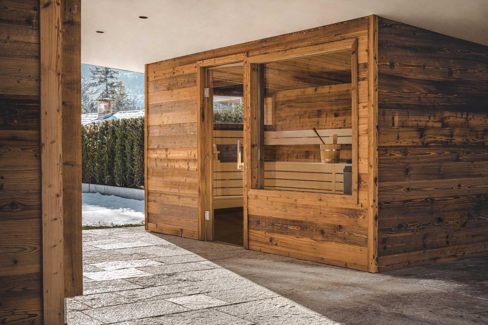 fineheat Referenz Sauna Außensauna